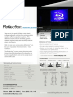 Reflection Front Projection Screen Surface