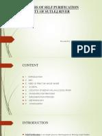 Analysis of Self Purification Capacity of Sutlej River [Autosaved]