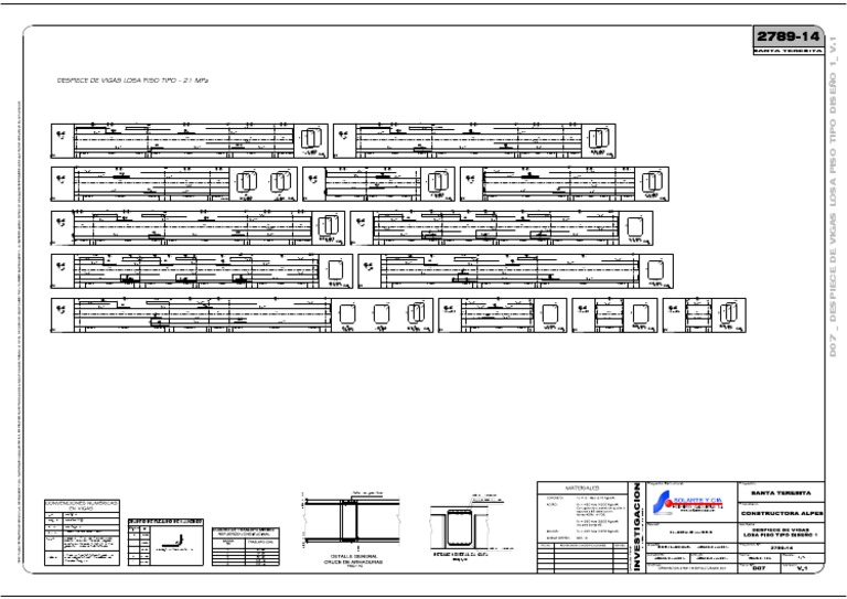 D07 Despiece De Vigas Y Columnas