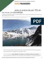 Alto Maipo Presenta Un Avance de Casi 70% de Las Obras Comprometidas - Diario Financiero