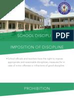 School Discipline Sta. Fe Stand-Alone Senior High School