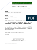 Carta de Devolucion de Carta Fianza