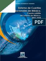 CUENTA SATELITE DEL TURISMO MEXICANO