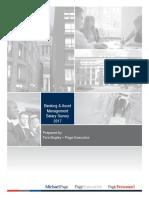 Banking Asset Management Salary Survey 2017