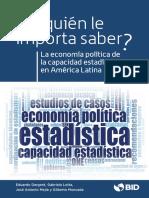 La economía Política de la capacidad estadística en América Latina