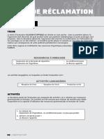 Évaluation - lettre de réclamation - FLE