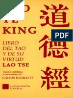 Tao Te King - El Libro Del Tao Y La Virtud de Lao Tse - Soublette G.