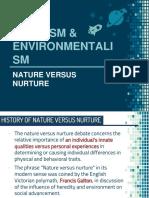 Nativism & Environmentalism