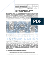 Instructivo Para Diligenciar La Historia Clinica - Introduccion Anexos