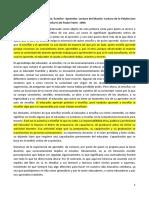 Fragmento de La Primera Carta de Paulo Freire