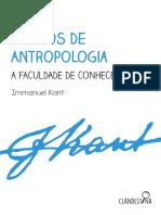 Kant - Cursos de Antropologia