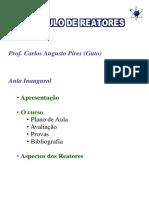 aula 1 - calculo de reatores