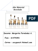 Planificación Taller de Material Reciclado