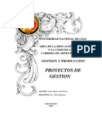 Alternativas de Proyectos de Gestion.