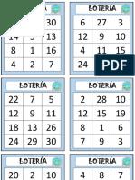 Lotería Números Del 1 Al 30