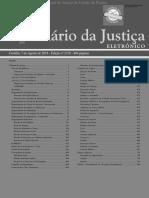 Diário Da Justiça Eletrônico - Data Da Veiculação - 07-08-2018