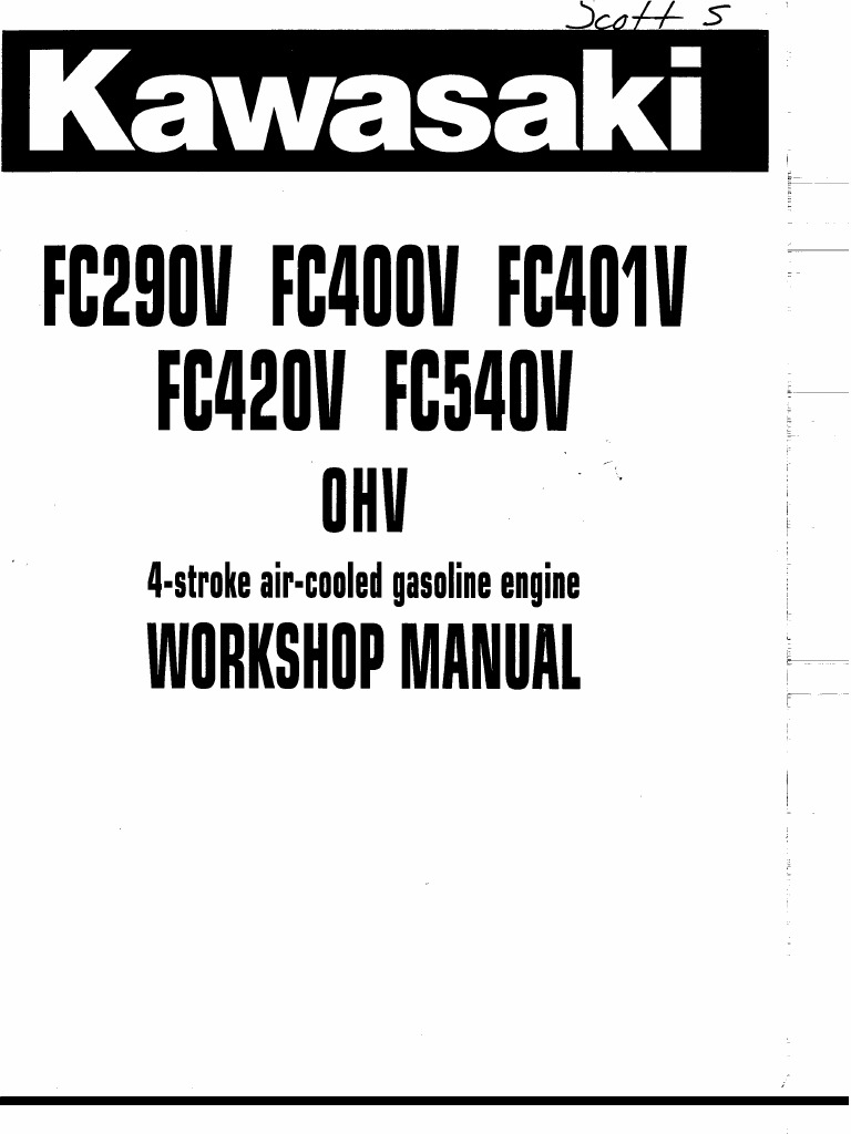 Kawasaki Fc290v Wiring Diy Enthusiasts Diagrams Fc420v Diagram Service Manual Rh Scribd Com 9hp Engine Fd590v