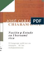 Copia de U2 Nacion y Estado en Iberoamerica El Lenguaje Politico en Tiempos de Las Independencias Jose Carlos Chiaramonte