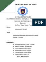 Gastos No Deducibles%2cDiferencia de Cambio y Pérdida Tributaria - GRUPO 3