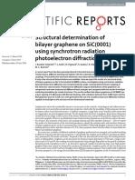 Structural determination of bilayer graphene on SiC