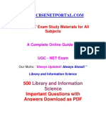 Cbse Net Portal - Library Science