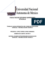 Glosa - Educacion Especial y Rehabilitacion