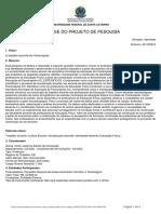 Projeto Pesquisa - O Trabalho Docente Em Florianó