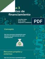 Presentacion de Fuentes de Financiamiento Tema N°3
