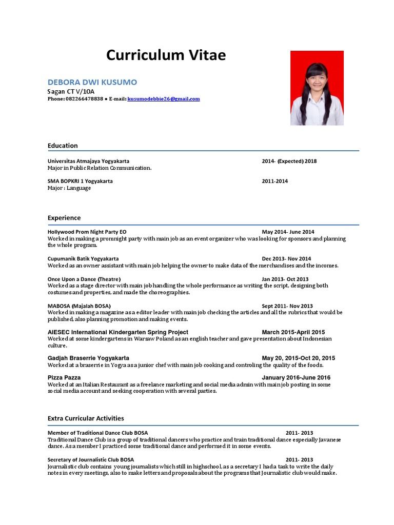Cv Debby New Communication