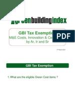 20100317 - GBI Tax Exemption Presentation - TL Chen