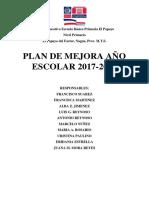 plan de mejora, Centro educativo Escuela Básica Primaria El Papayo