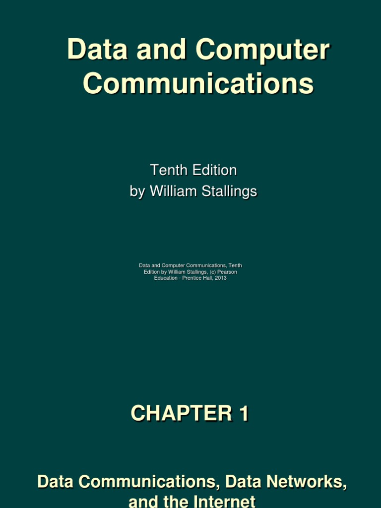 CH 01 -DCC10e Data Communications, Data Network and Internet.pptx | Packet  Switching | Telecommunication