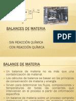 Balances de Materia