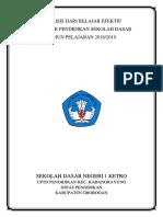 Analisis Hari Belajar Efektif 2018-2019