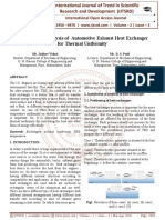 Experimental Analysis of Automotive Exhaust Heat Exchanger for Thermal Uniformity