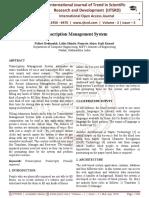 Transcription Management System