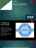 Using Balanced Scorecard as a Strategic Management System