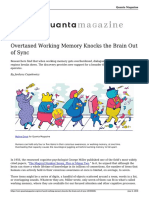 Overtaxed Working Memory Knocks the Brain Out of Sync