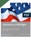 CG Alteration of Bridges Program Plan 5-15-09
