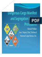 Dangerous Cargo Manifest and Segregation Review Procedures