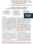 A Modern and Experimental Study on stabilization of Marine Clay by using coir fibre for Foundation