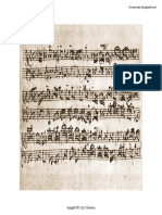 Bach Invention 15 Autograph Manuscript