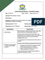primary departmental meeting minutes 10-5-2018