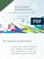 El Examen Profesional Como Prepararlo