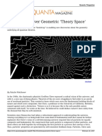 Bootstrap geometry theory space