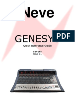 Neve Genesys Quick Ref Iss1 1