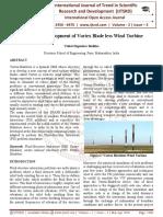 Design and Development of Vortex Blade less Wind Turbine