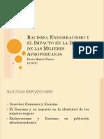 Ppt Sobre Racismo Endoracismo y Identidad de Mujeres Afroperuanas Rocio Munhoz