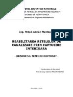 Reabilitarea retelelor de canalizare prin captusire interioara -  Rezumat teza doctorat.pdf