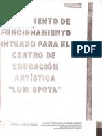 Reglamento CEDART Luis Spota Saavedra